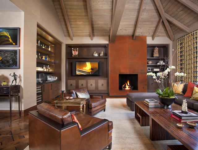 Hollywood Glamour Meets Modern modern-living-room