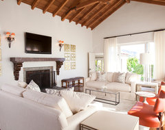 Hollywood Hills Home transitional-living-room