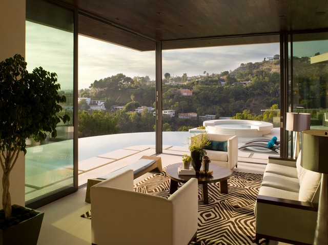 Hollywood Hills contemporary-living-room