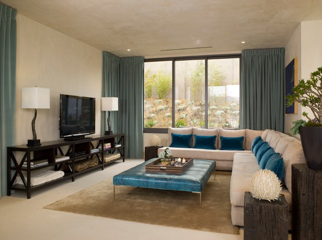 Hollywood Hills Contemporary Living Room