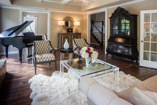 Hollywood Regency contemporary living room