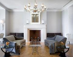 Hollywood Regency, Montecito midcentury-living-room