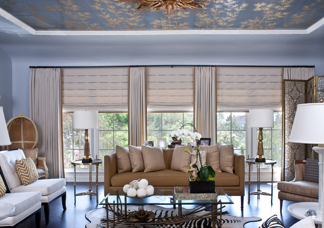 eclectic living room by Elizabeth Gordon
