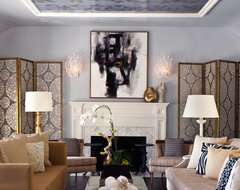 Hollywood Residence transitional-living-room