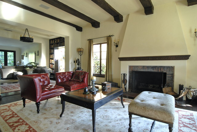 Hollywood Spanish Colonial Restoration - Mediterranean - Living Room