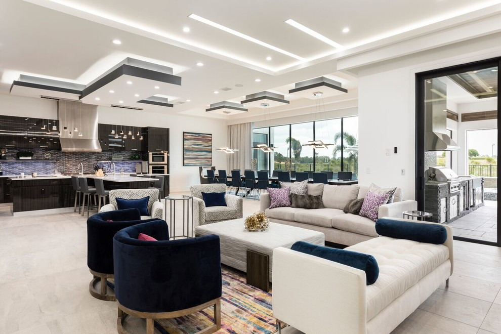 Inspiration for a contemporary living room remodel in Orlando
