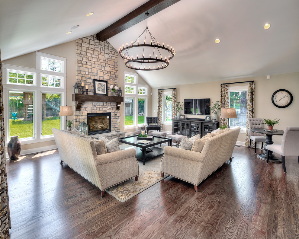 Home Addition Transitional Living Room Kansas City By L Marie Interior Design