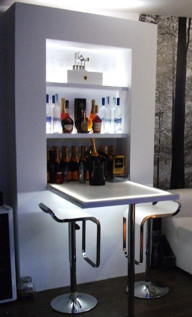 Home bar - Modern - Living Room - London