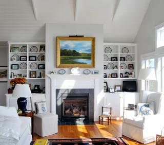 Home by the sea beach style living room portland for 02 salon portland maine