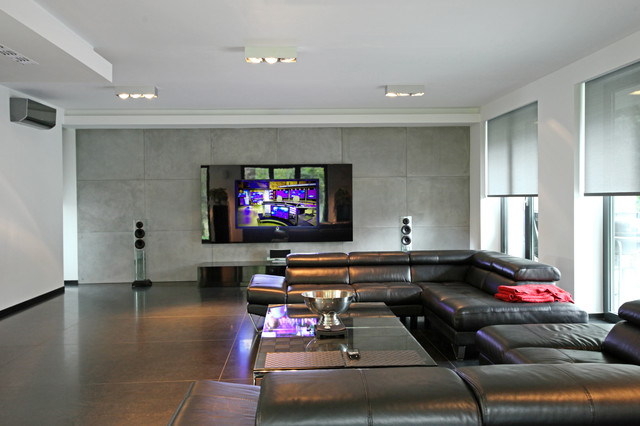 Home cinema in living rooms contemporary living room for Living room theater