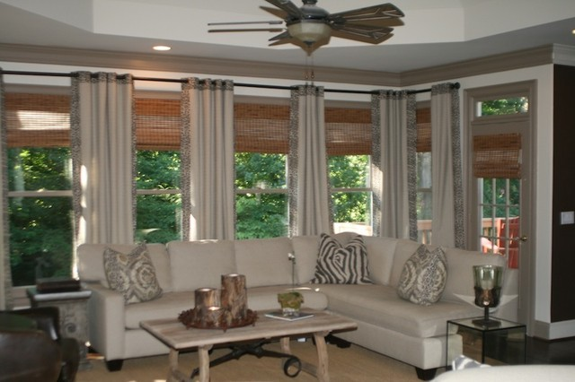 Home decor window treatments for Traditional window treatments living room