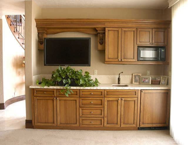 Home Entertainment Cabinetry traditional-living-room