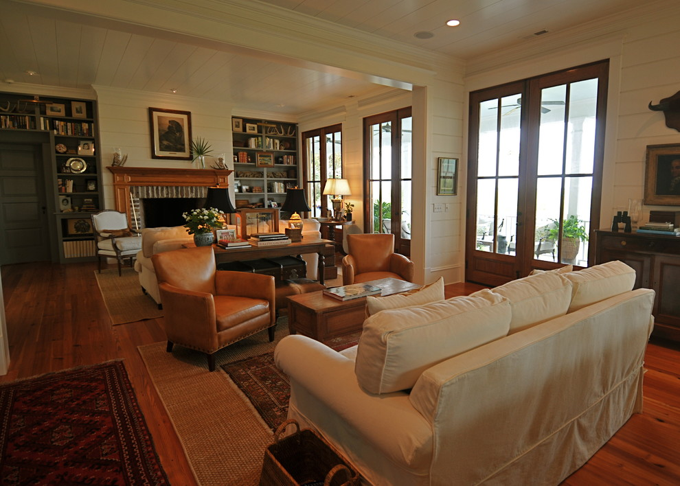 Home Farm 1 Rustic Living Room Charleston By Alix Bragg Interior Design