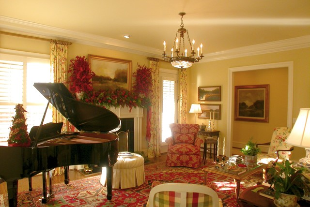 Home for the Holidays - formal living room traditional-living-room