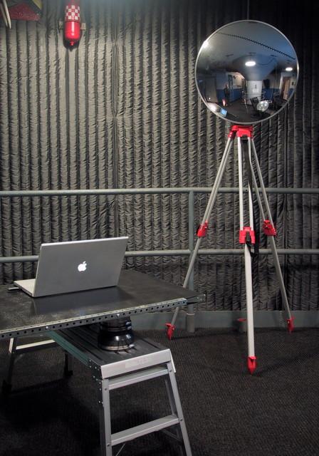 Living room - industrial living room idea in New York