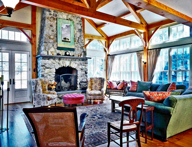Home in chester vermont eclectic living room for The family room vermont