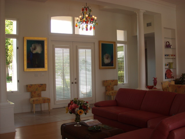 Home in Naples, Florida eclectic-living-room