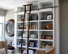 Home Library contemporary-living-room