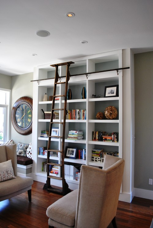 Home Library contemporary living room