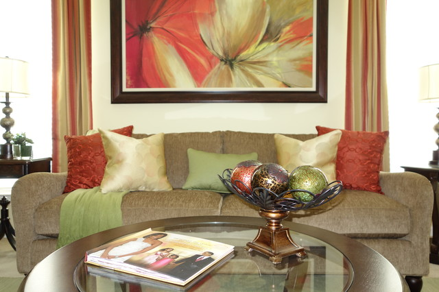 Home makeover warm and inviting traditional living for Warm inviting living room ideas