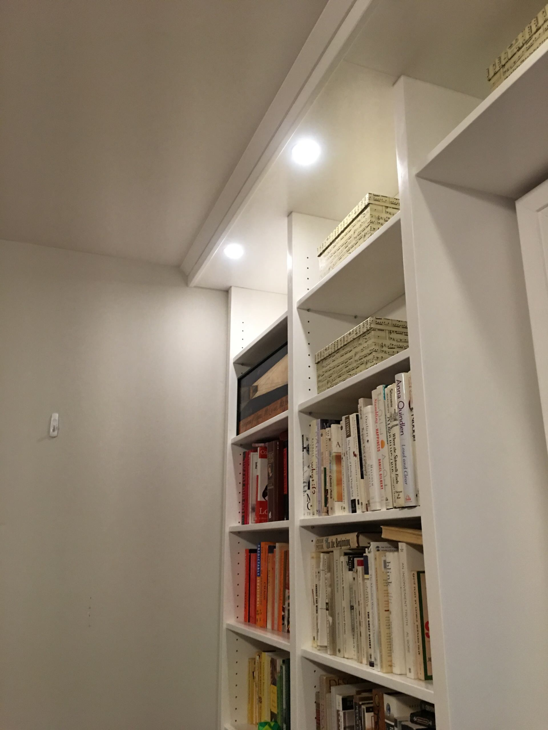 Home Office, Bookshelves and Window Seat