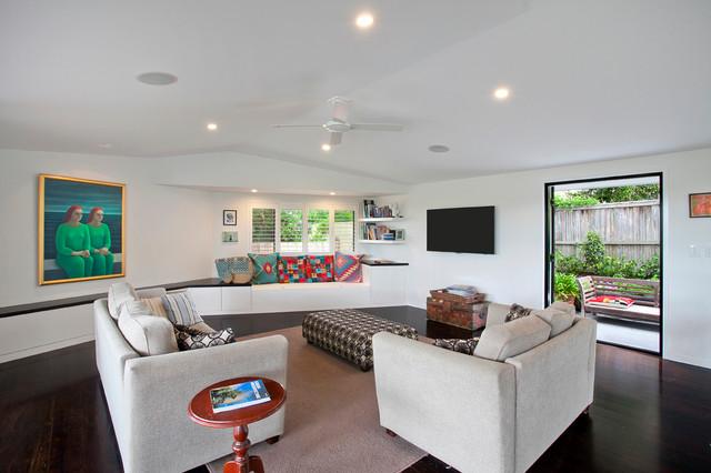 Home Renovation Bardon Brisbane Contemporary Living Room Sunshine Coast By Unique