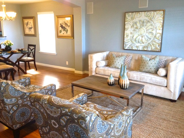 Home staging before and after transitional living room for Home staging before and after