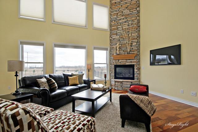 Home Staging Kalamazoo Michigan Modern Living Room