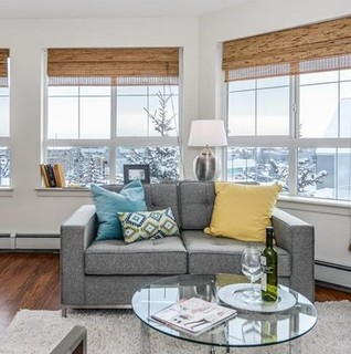 home staging richard court sw condo contemporary living room calgary by second look. Black Bedroom Furniture Sets. Home Design Ideas