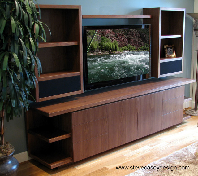 Home Theater Contemporary Living Room Los Angeles By Casey Design Inc Custom Cabinets