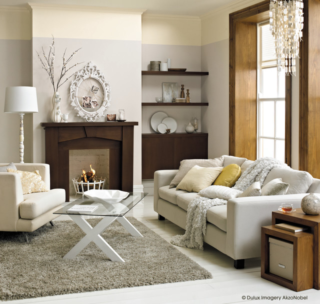 Inspiration for a timeless living room remodel in Berkshire