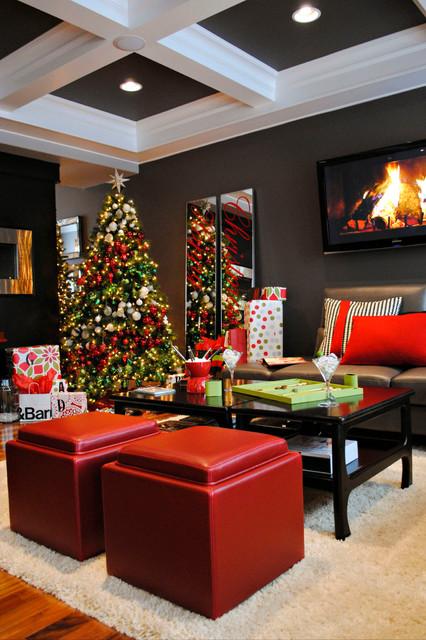 Homes for the Holidays 2012- Edmonton contemporary-living-room