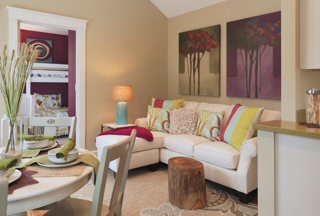 Homes Under 700 Sq Feet Contemporary Living Room