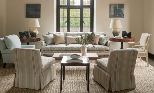 Hommage & Trésors de Jouy modern-living-room