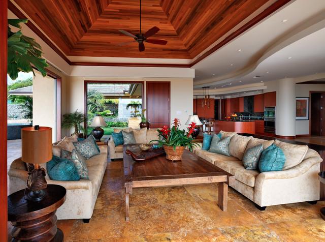 Honolua Ridge, Maui, Residence tropical-living-room