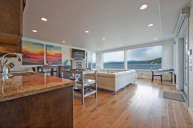 Hood Canal Residence modern-living-room