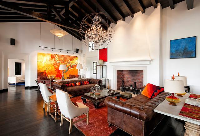 Hope ranch mediterranean living room santa barbara for Ranch style living room