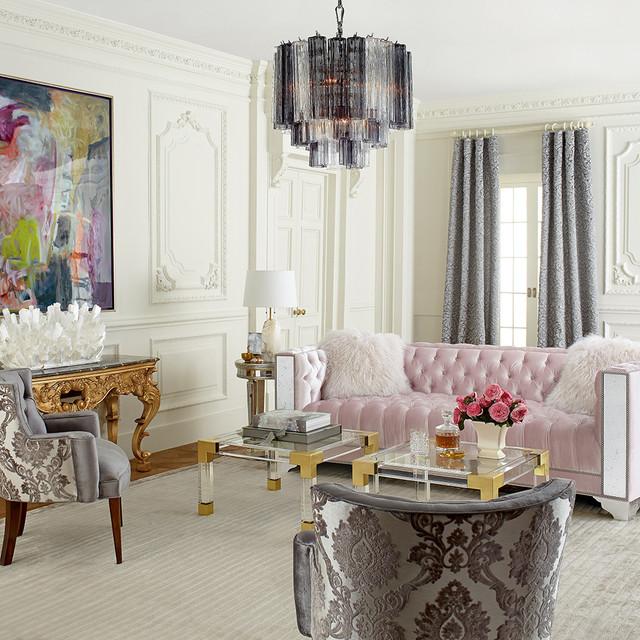 Monochromatic Living Room Houzz Com: Horchow