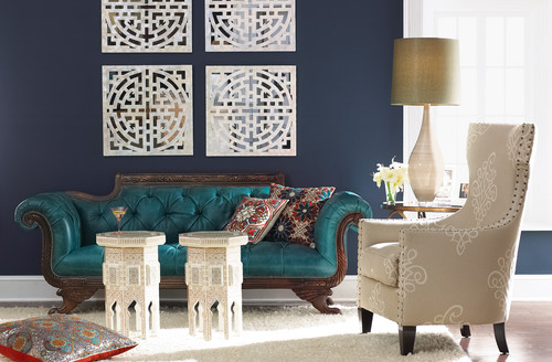 dark blue living room. Dark blue can go with nearly any color  Eclectic Living Room 10 Navy Rooms To Inspire You Pick Up The Paintbrush PHOTOS