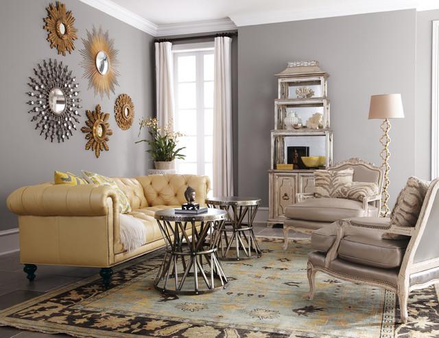 Living room - traditional living room idea in Dallas