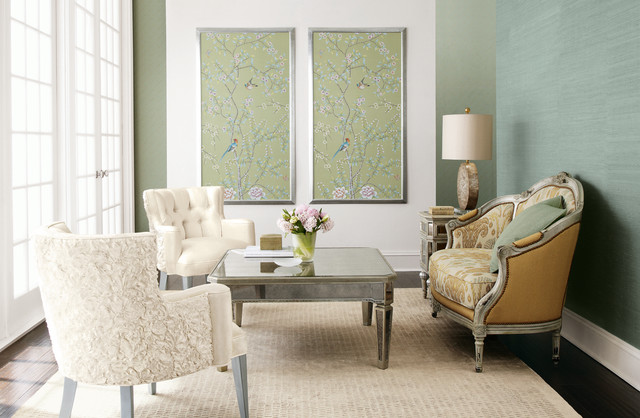 home dzine decor decorate bare walls with framed wallpaper