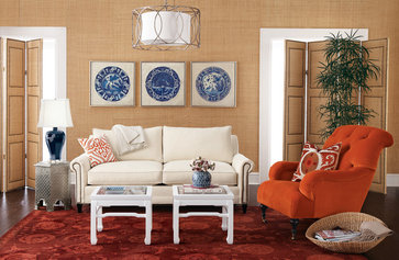 Horchow eclectic living room