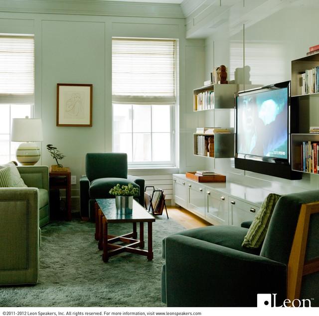 Horizon Series Soundbar Traditional Living Room New York By Leon Spea