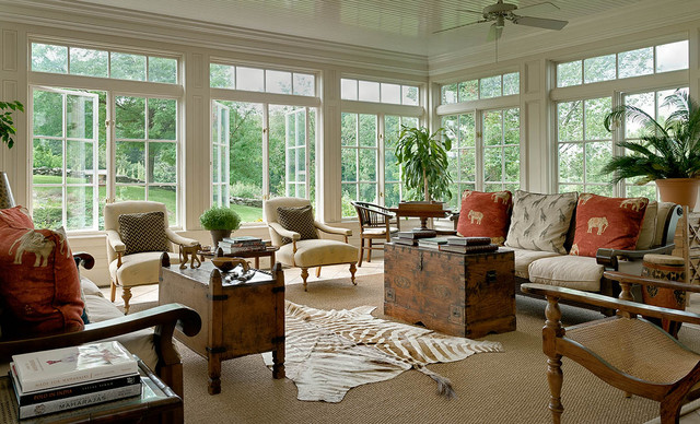 Horse Country Home Traditional Living Room