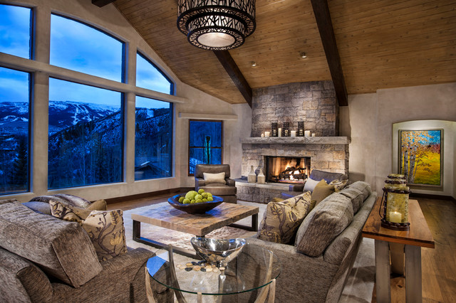 horse ranch contemporary living room denver by cathers home
