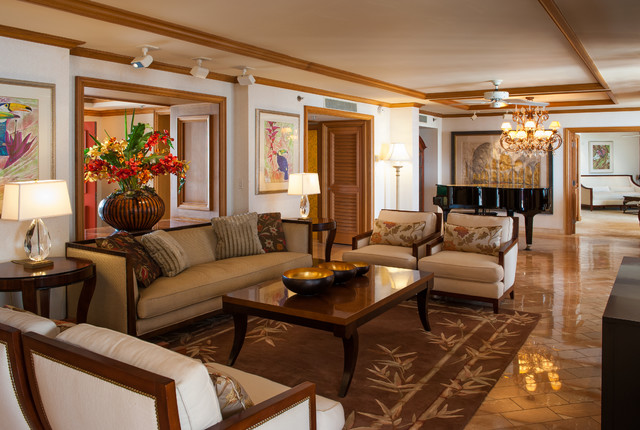 Hospitality - Wailea Resort Hotel - Tropical - Living Room ...