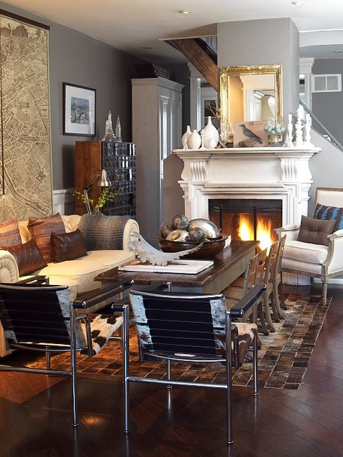 House and home feature eclectic living room