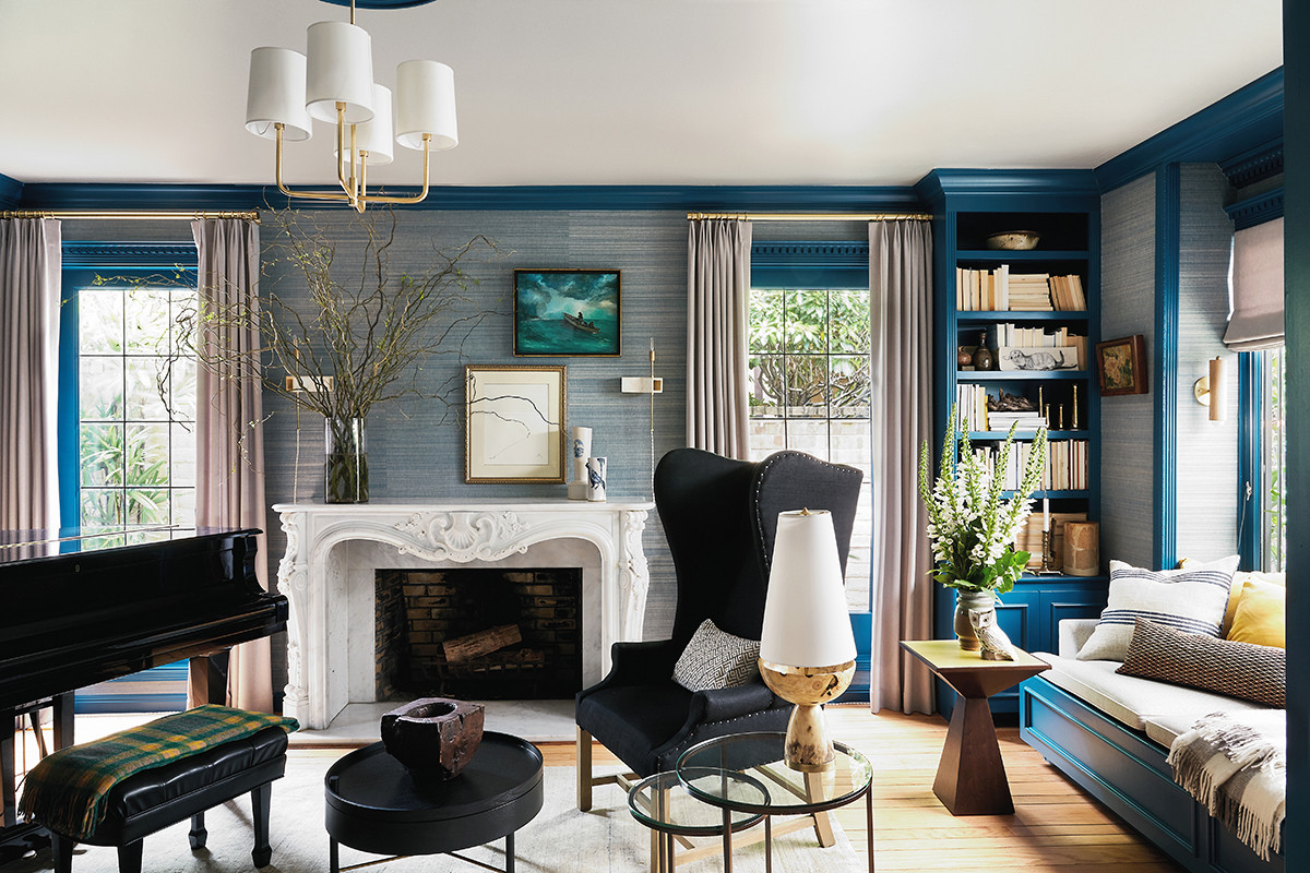 75 Beautiful Wallpaper Living Room Pictures Ideas August 2021 Houzz