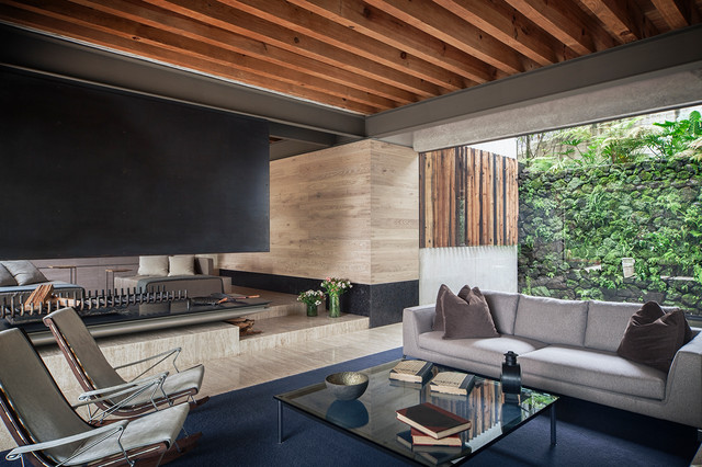 House  by the lake Valle de Bravo ,Mexico. modern-living-room