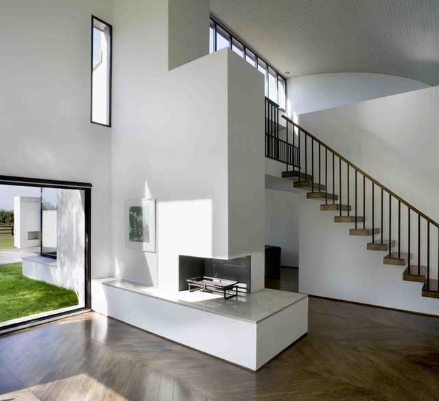 House by the Paddock, Kildare modern-living-room